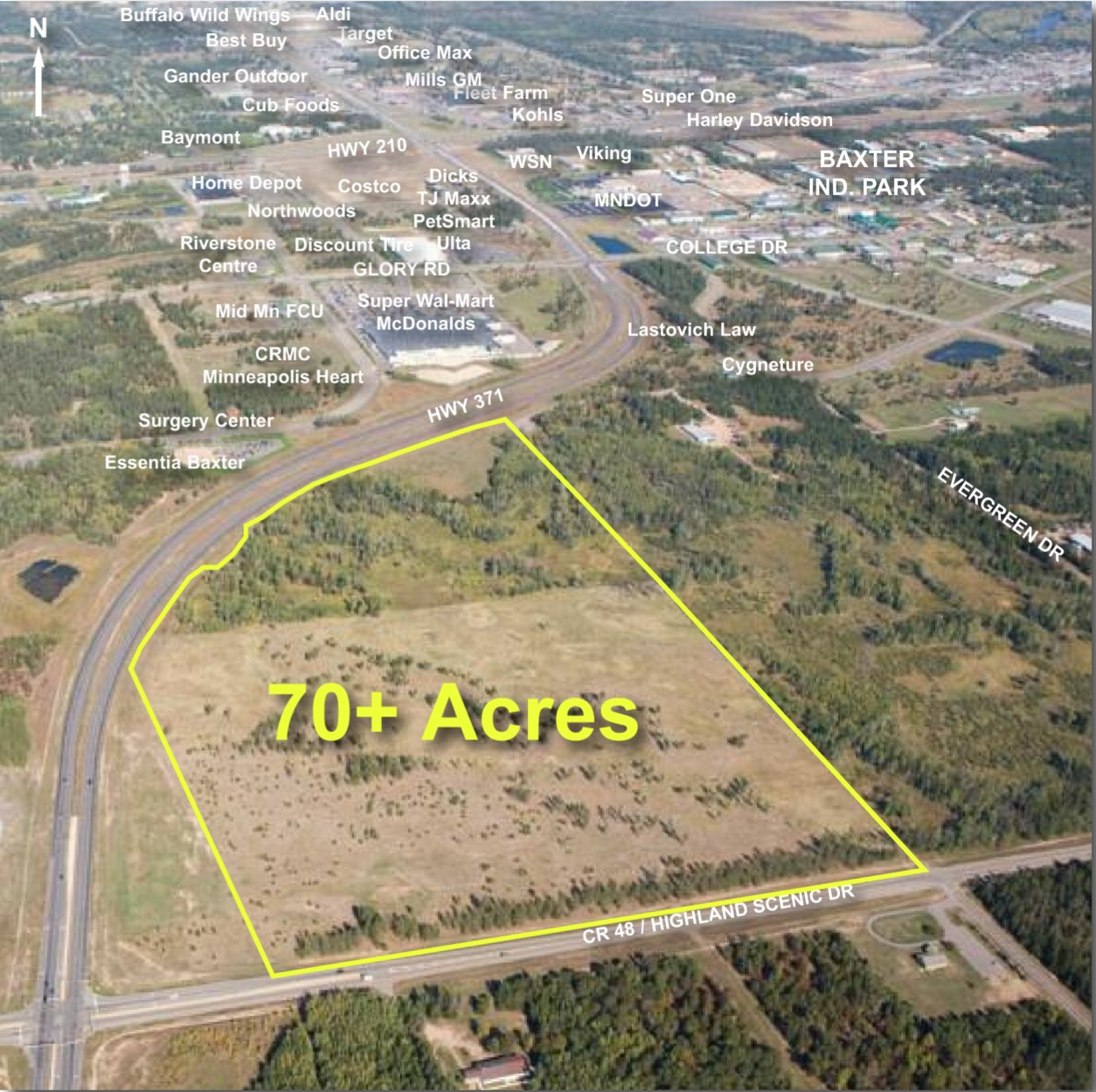 70 Acres On Hwy 371 Close Converse
